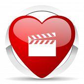 video valentine icon cinema sign