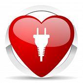 plug valentine icon electric plug sign
