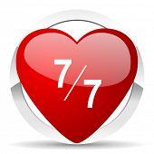 7 per 7 valentine icon