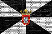foto of ceuta  - flag of Ceuta painted on brick wall - JPG