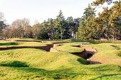picture of battlefield  - The trenches and craters on battlefield of Vimy ridge - JPG