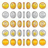 Game coins rotation set