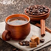 Постер, плакат: cup with coffee breakfast coffee