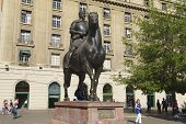 Equestrian monument to Pedro de Valdivia, Santiago, Chile.