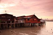 House in Chao Phraya River Thailandarchitecture; aquaculture; asia; asian; bangkok; boat; canal; dam