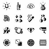 Casino Icons Black