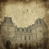 vintage image of house - retro background with Castle