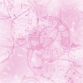 Pink Abstract Vintage Clock Background
