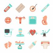 Pregnancy Newborn Icons