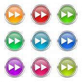 rewind icons set