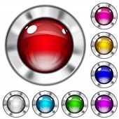 Set Of Opaque Glass Buttons