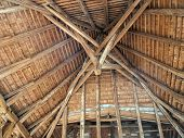 Old wooden roof from the inside