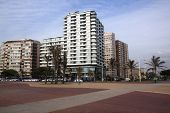 Beachfront Hotels Lining Promade, Durban South Africa