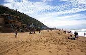 Sunworshipers On Brighton Beach, Durban South Africa