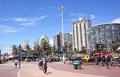 Pedestrians On Promenade Of Durban Beachfront, South Africa
