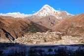 Stepantsminda Village At Mount Kazbek