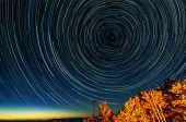 Star trails around North Star