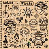 Set of Mexican vector symbols