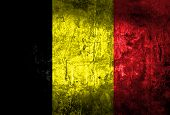 Grunge of belgium flag