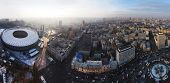 Kiev, Ukraine, December 14, 2014. Aerial panorama of Kiev city