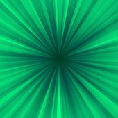 Green centralized rayed background
