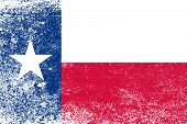 foto of texas state flag  - The flag of the USA state of TEXAS with dirty grunge effect - JPG