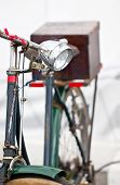 Old Bicycles Lamp Close Up.