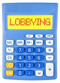 Calculator With Lobbying