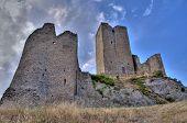 Medieval Castle Ruins HDR poster