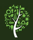 tree with recycle symbols