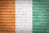 Grungy Ivory Coast flag.