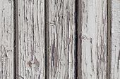 Wooden Wall With White Paint
