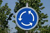 Roundabout roadsign