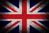 Grunge of United kingdom flag.