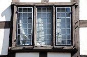 Window in Tudor building.