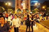 Crowded Urban Scene, Vietnam Holiday