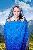 Girl in the sleeping bag