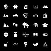 Sufficient Economy Icons On Gray Background