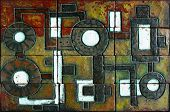 Retro Mosaic With The Image Of An Old Mechanism.