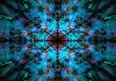 Dark Blue Kaleidoscope Pattern