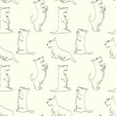 Cartoon dog pattern
