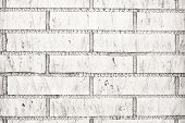 Close-up White Brick Wall Texture Or Background