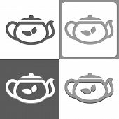 Tea Kettle Or Teapot Vector Icon