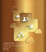 Cloud concept. Vector
