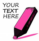 Pink Highlighter with sample text