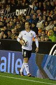 VALENCIA, SPAIN - JANUARY 4: Orban during Spanish King Cup match between Valencia CF and R.C.D. Espanyol at Mestalla Stadium on January 4, 2015 in Valencia, Spain