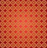 Wall-papers With Round Golden Patterns