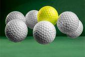 Suspended Golf Balls