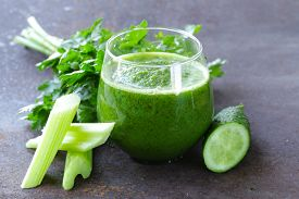 picture of cucumbers  - fresh green juice from celery - JPG