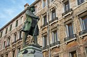 Carlo Goldoni Monument Located At Venice, Italy
